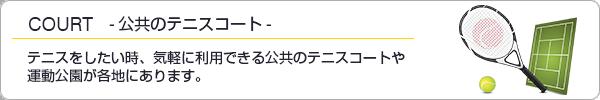 公共テニスコートご紹介